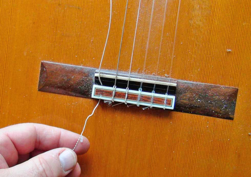 Removing String From a Nylong String Guitar