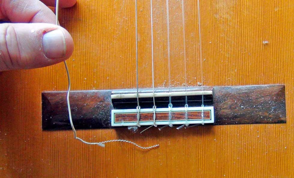 Removing the String From a Classical Guitar