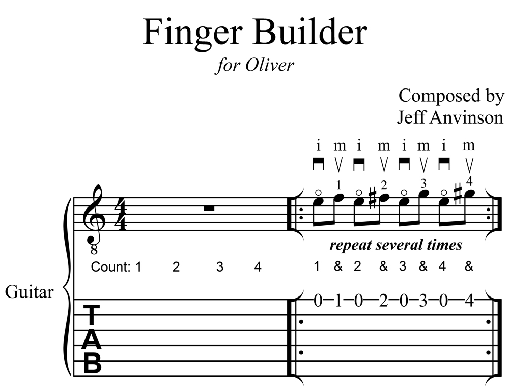 """Finger Builder"", an Exercise for Guitarists"